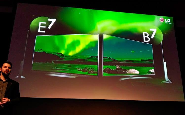 LG: OLED E7 de 65 polegadas e OLED B7 de 55 polegadas
