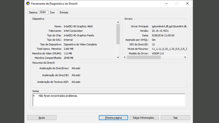Como descobrir quais são as configurações do seu PC
