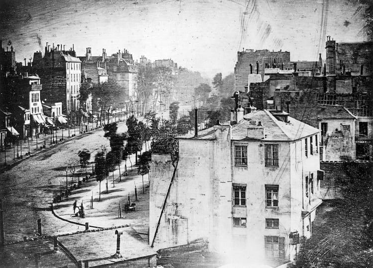 A primeira fotografia de pessoas já feita, de 1838