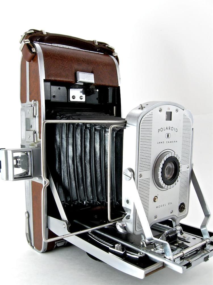 A Polaroid original, ainda em preto e branco