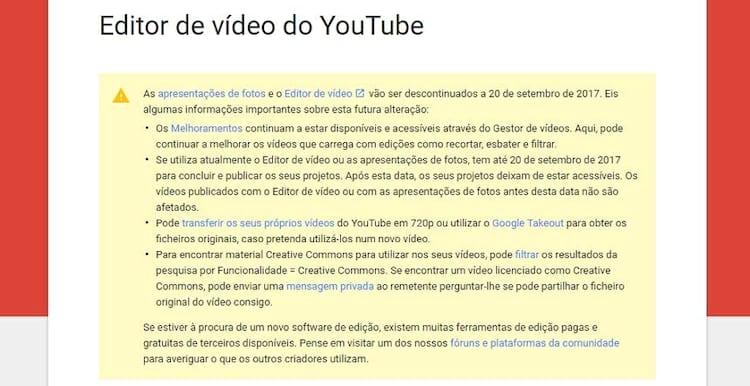 Após data de encerramento, usuários não poderão mais acessar os vídeos que não foram publicados.
