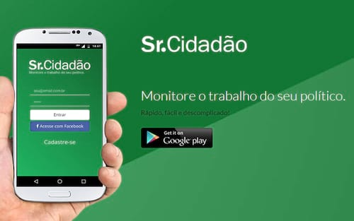 Conheça o Sr. Cidadão, o aplicativo que monitora políticos