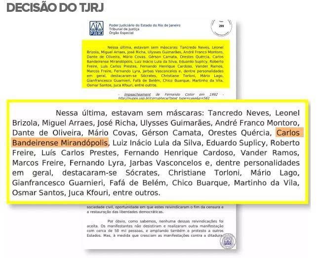 Decisão do Tribunal de Justiça do Rio de Janeiro caiu na pegadinha