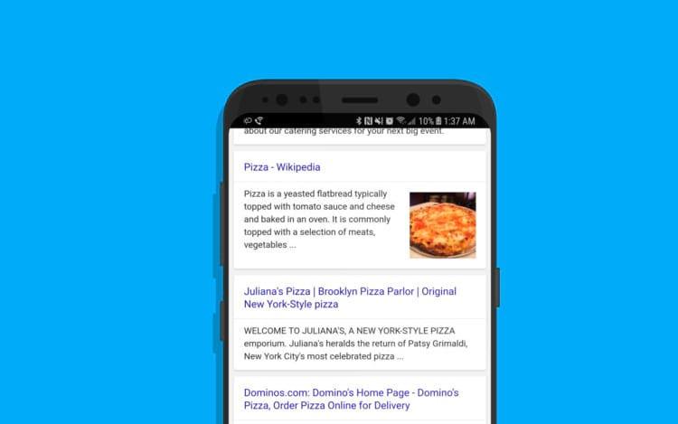Google Serp no smartphone