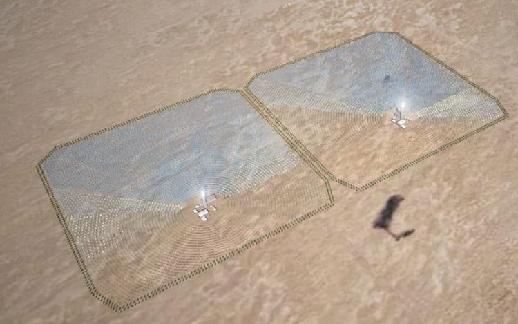 Planta elétrica no deserto do Sahara