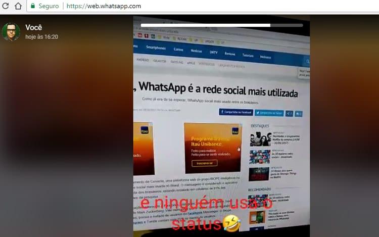 Será que é muito usado mesmo o Status do WhatsApp?