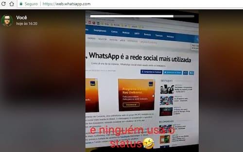 Odiada por muitos, função Status chega para o WhatsApp Web
