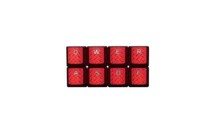 Teclas em vermelho