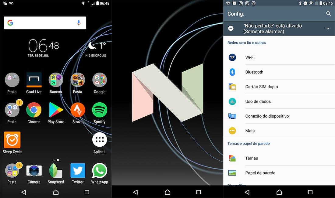 Android atualizado e interface bonita.