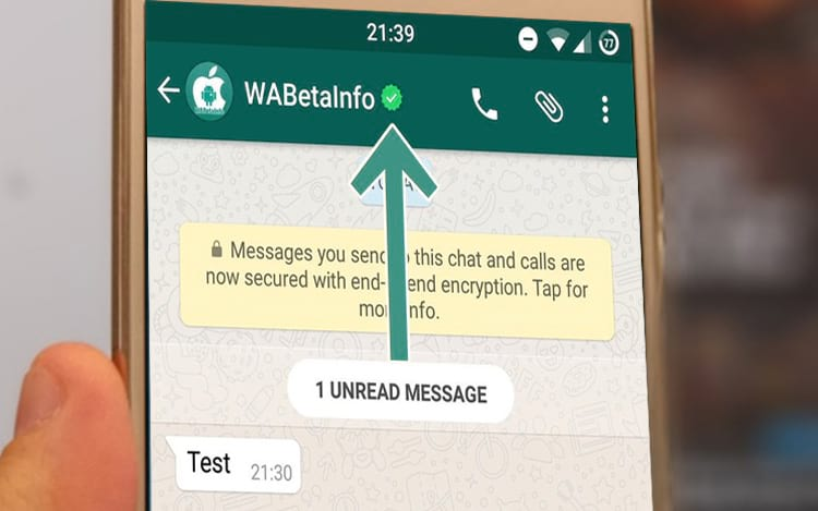 WhatsApp conta verificada