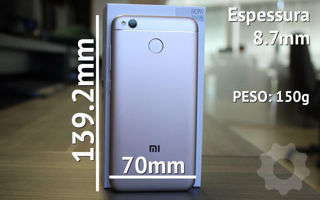 Xiaomi Mi 4X - dimensões e peso