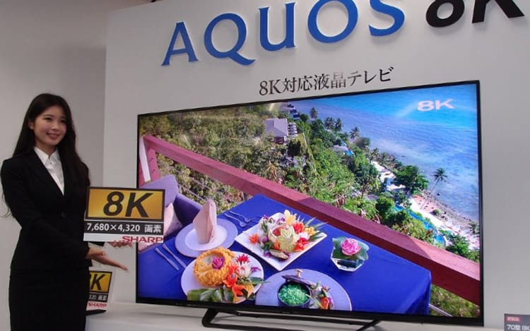 TV 8K Aquos da Sharp