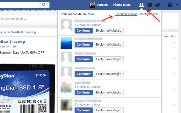 Descubra quais das suas solicitações de amizade ainda estão pendentes no Facebook