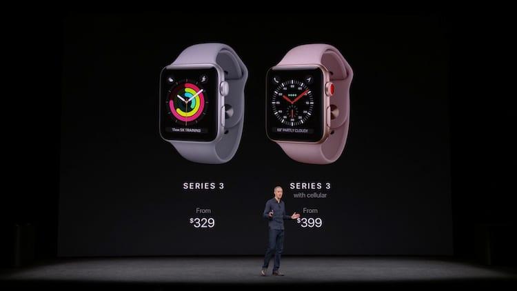 Os preços do Apple Watch 3