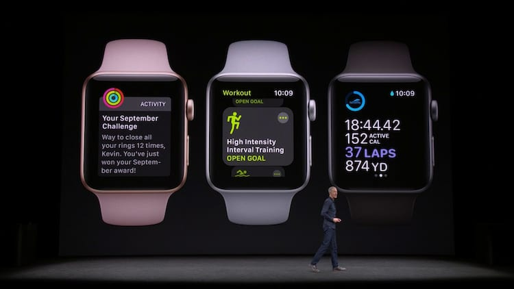 Apple Watch com novidades no software