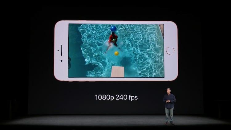 iPhone 8 câmera lenta