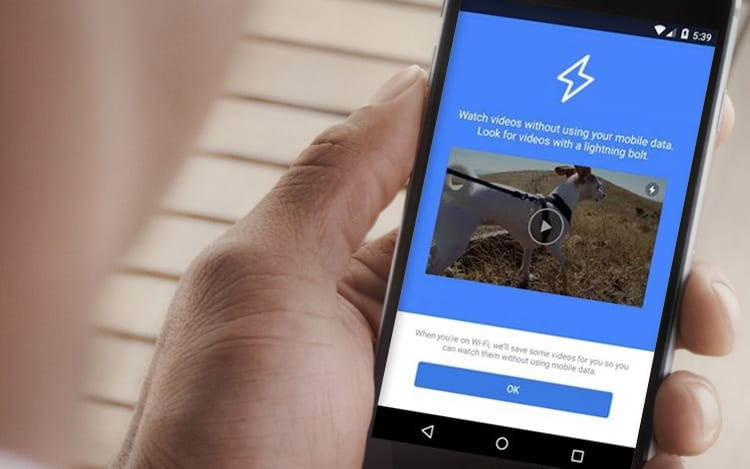 Video lightning bolt: Recurso do Facebook promete economia de dados