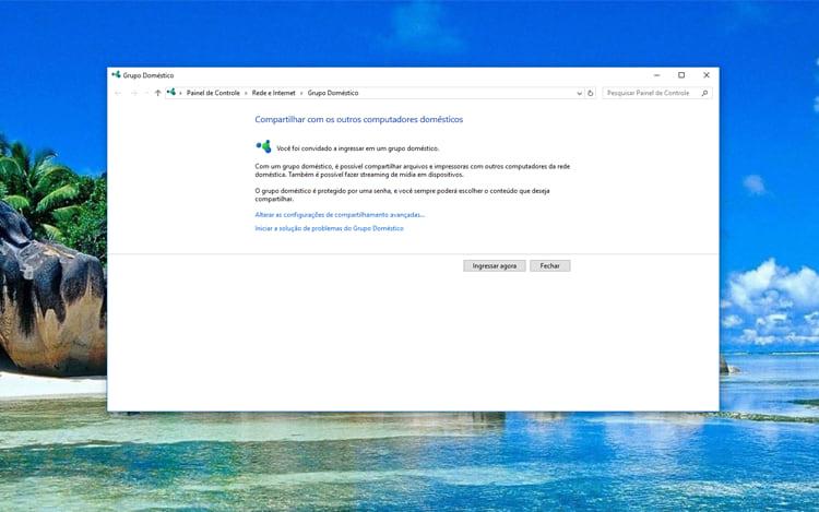 [Software]Grupo doméstico no windows 10 Ingressar