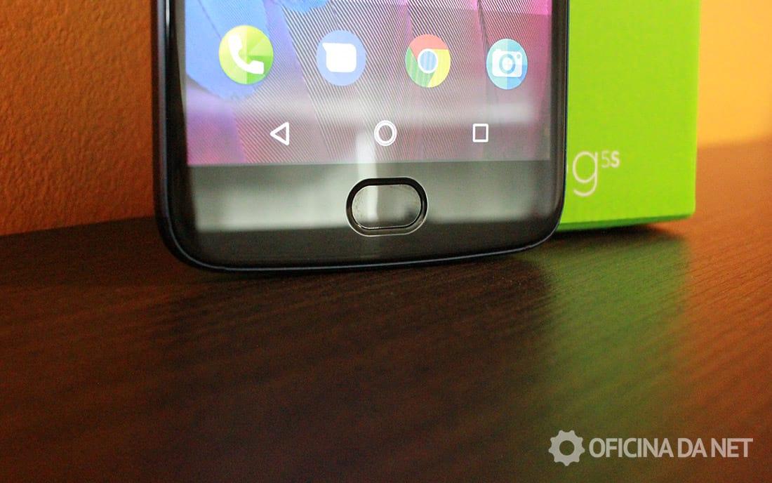 Motorola Moto G5S - sensor de impressões digitais