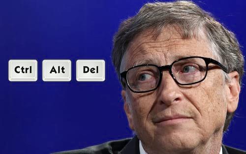 Bill Gates revela um de seus arrependimentos: Ctrl + Alt + Del