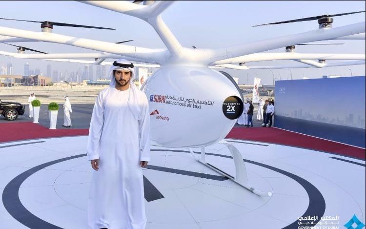 Táxis autônomos voadores começam a ser testados em Dubai.