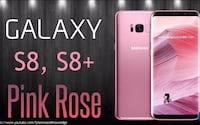 Galaxy S8 e S8 Plus chegam na versão rosa para novos locais