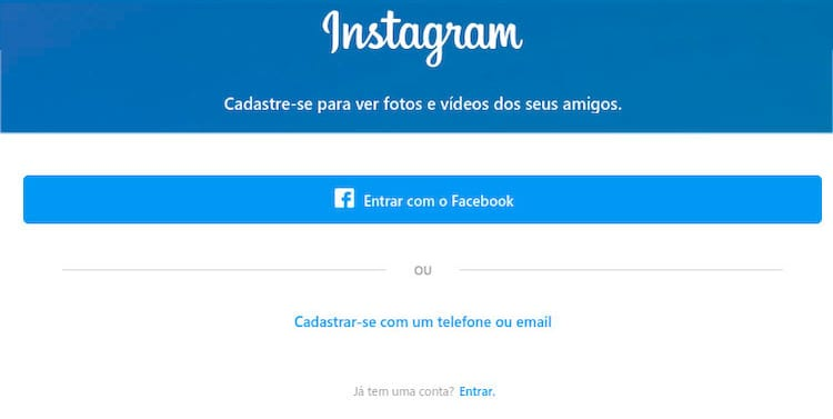 entrar no instagram
