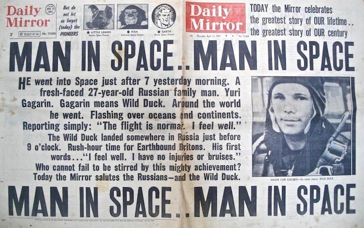 Jornal inglês noticia assustado o feito dos soviéticos