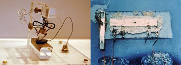Os primeiros transistor e microchip