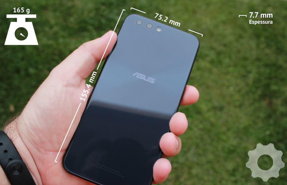 Zenfone 4 - Dimensões do aparelho