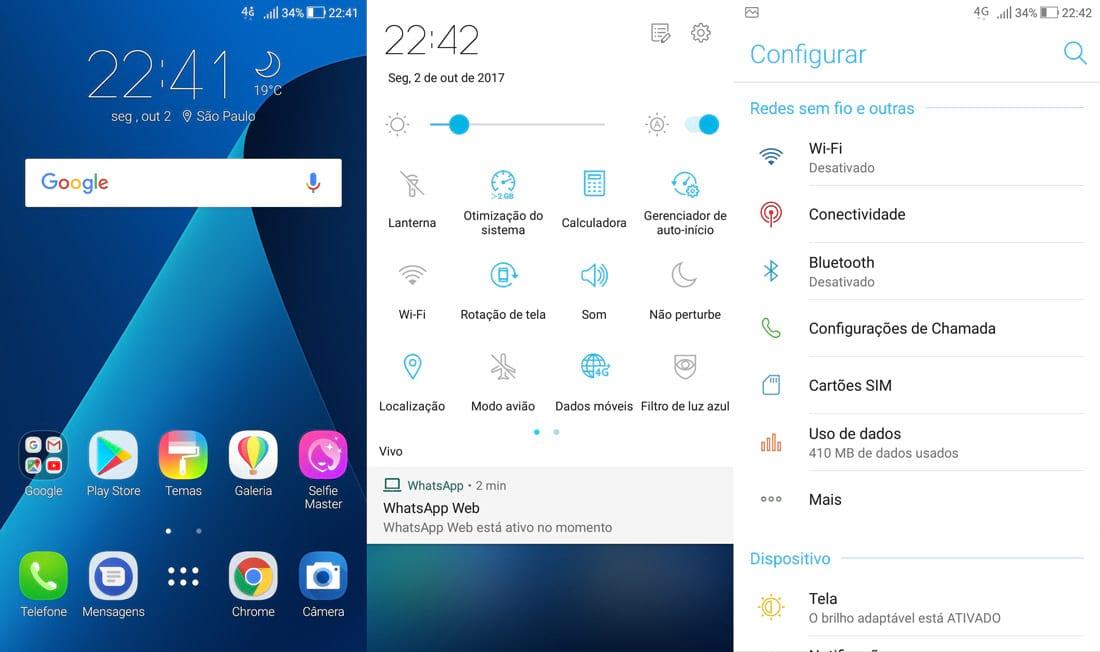 Zenfone 4 - Telas da ZenUi 4.0