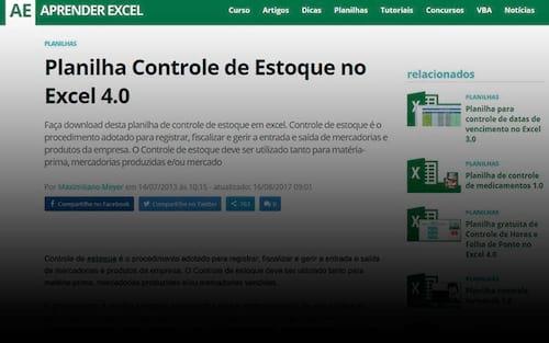 Maior site de Excel do Brasil está de cara nova