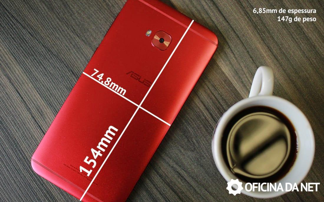 Zenfone 4 Selfie Pro - medidas do aparelho