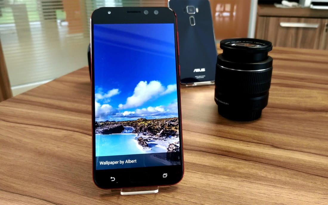 Tela amoled do Zenfone 4 Selfie Pro