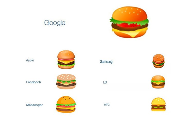 Emoji da Google é diferente
