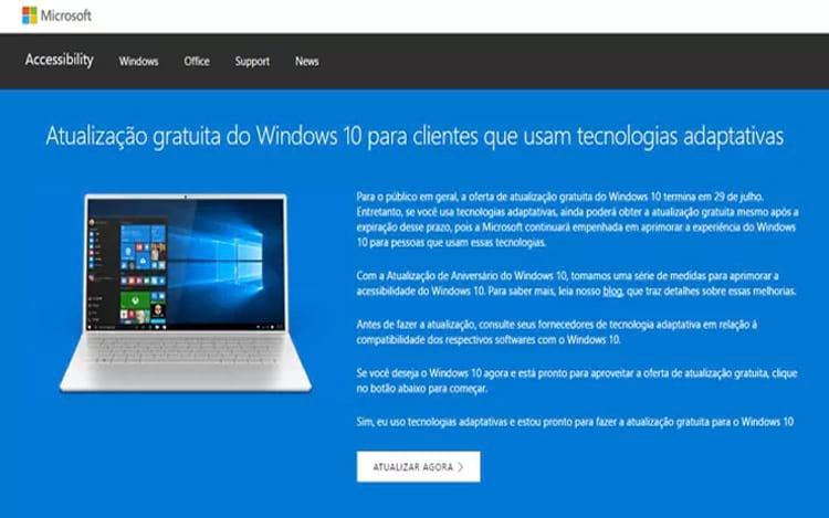 Atualização para o Windows 10 fica gratuita somente neste ano