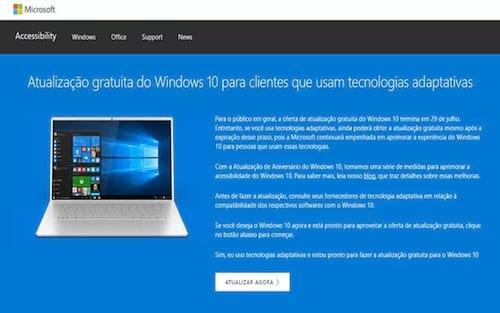 Atualização do Windows 10 é gratuita somente até dia 31 de dezembro