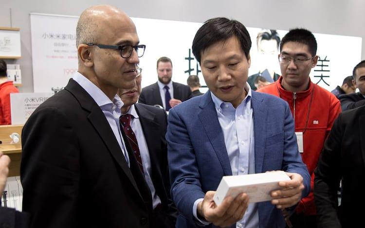 Microsoft e Xiaomi anunciam parceria.