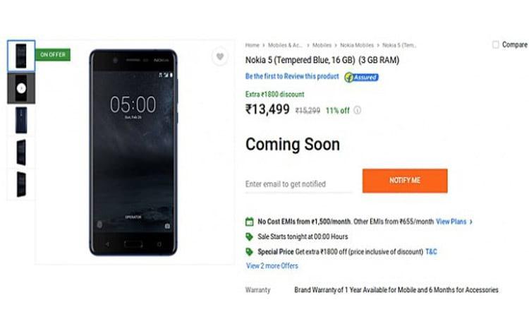 Nokia 5 com 3 GB de RAM