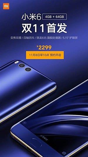 Xiaomi anuncia chegada da variante do Mi 6