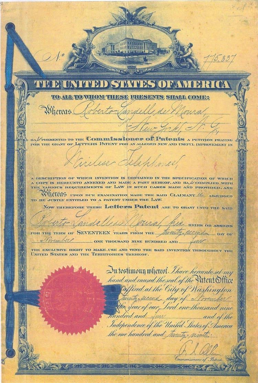 Patente americana do telefone sem fio