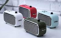 Lofree Poison é uma caixa de som portátil, sem fio e com estilo retrô