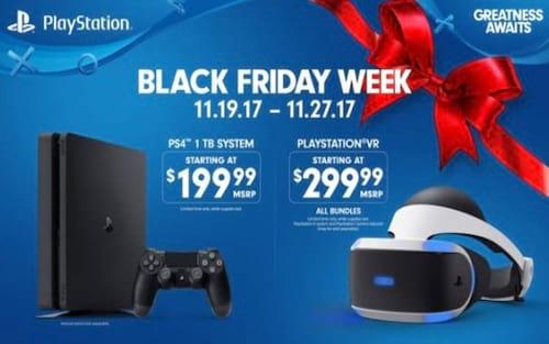 Sony revela preços promocionais para Black Friday 2017