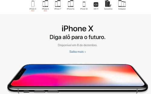 O iPhone X chega em dezembro no Brasil