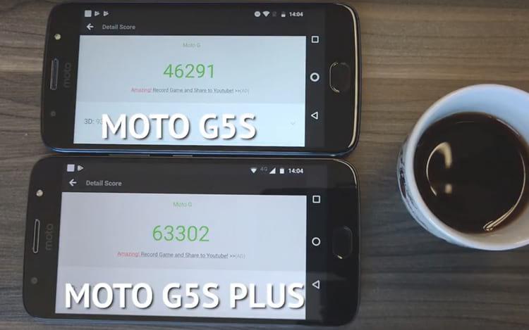 Mesmo saindo atrás, o Moto G5s Plus venceu a corrida no teste de benchmark