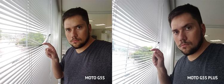 Possível notar a diferença da distância focal na Selfie