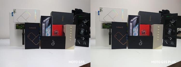 Já com luz melhorada a visão está melhor. Nota-se um tom mais amarelado no Moto G5s Plus.
