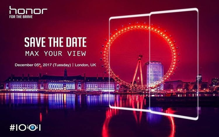 Honor V10 será lançado no Reino Unido.