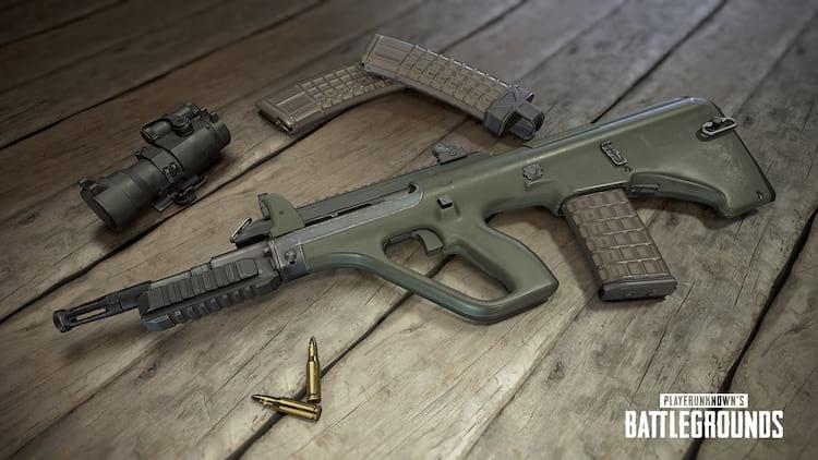 AUG 23 nova arma no PUBG