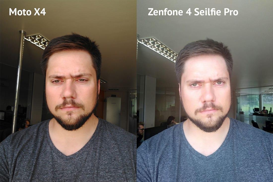 Você pode ver que a foto do Moto X4 possui melhor coloração, mais fidedigna. O problema é o foco.